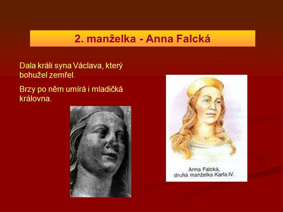 2. manželka - Anna Falcká Dala králi syna Václava, který bohužel zemřel.