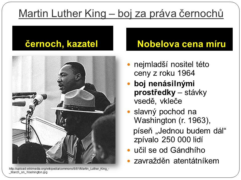 Martin Luther King – boj za práva černochů