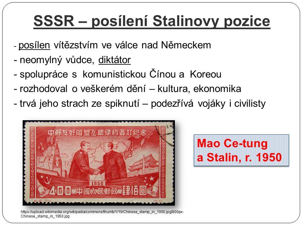 SSSR – posílení Stalinovy pozice