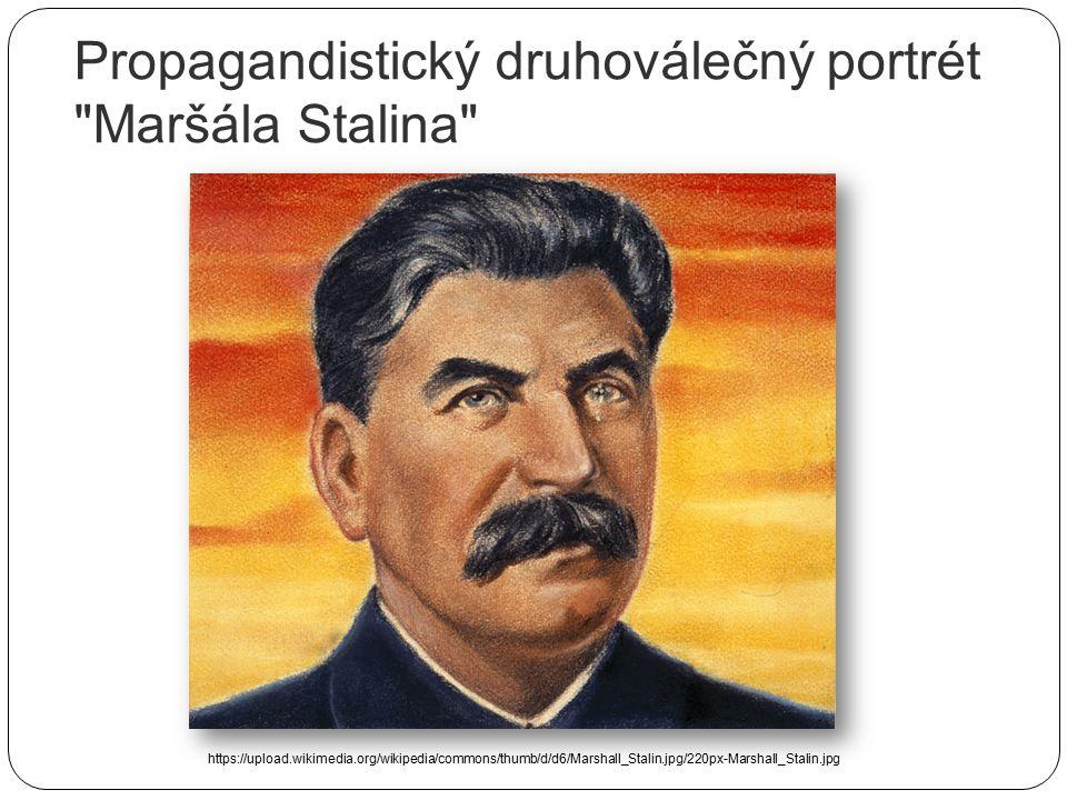 Propagandistický druhoválečný portrét Maršála Stalina