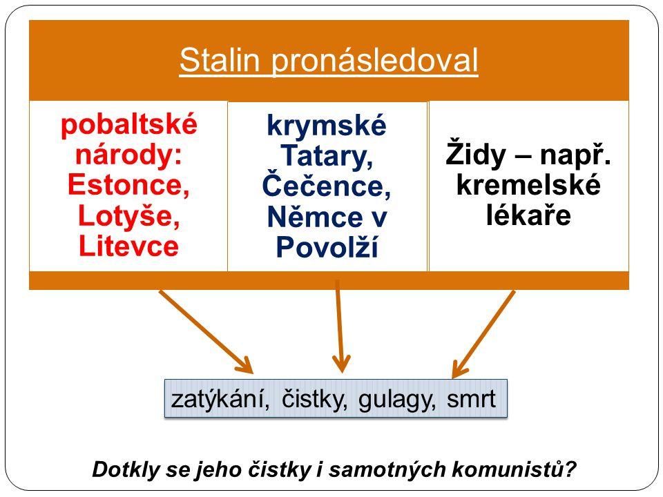 Stalin pronásledoval krymské Tatary, Čečence, Němce v Povolží