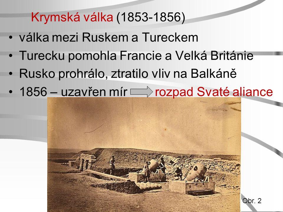 válka mezi Ruskem a Tureckem Turecku pomohla Francie a Velká Británie