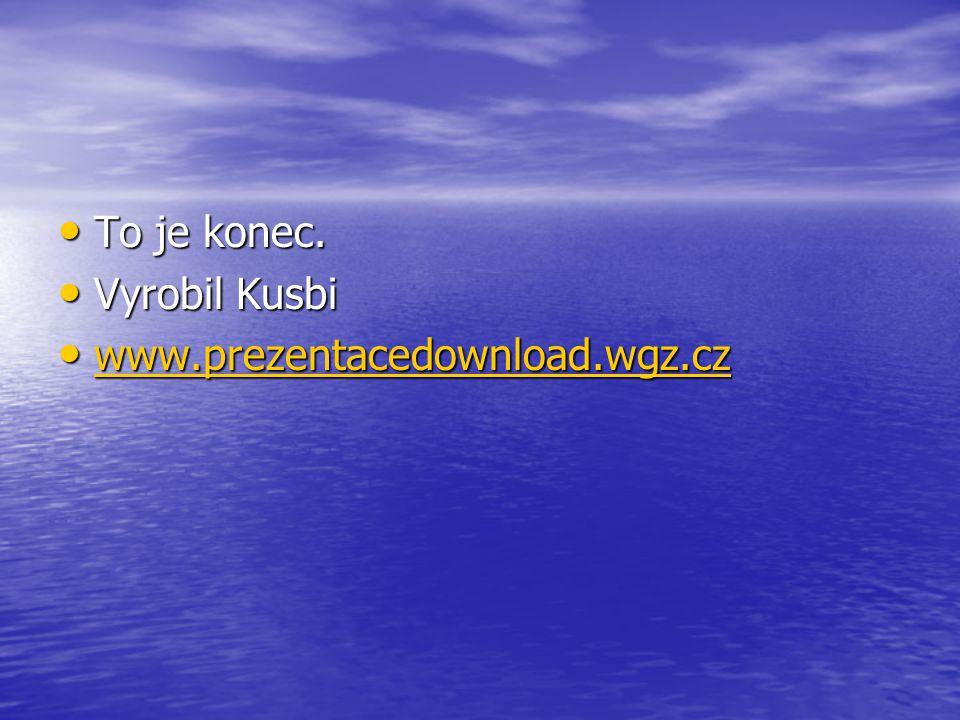 To je konec. Vyrobil Kusbi www.prezentacedownload.wgz.cz