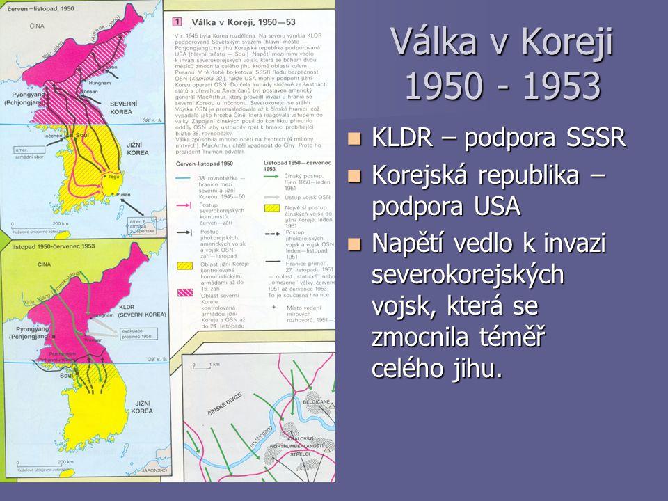 Válka v Koreji 1950 - 1953 KLDR – podpora SSSR
