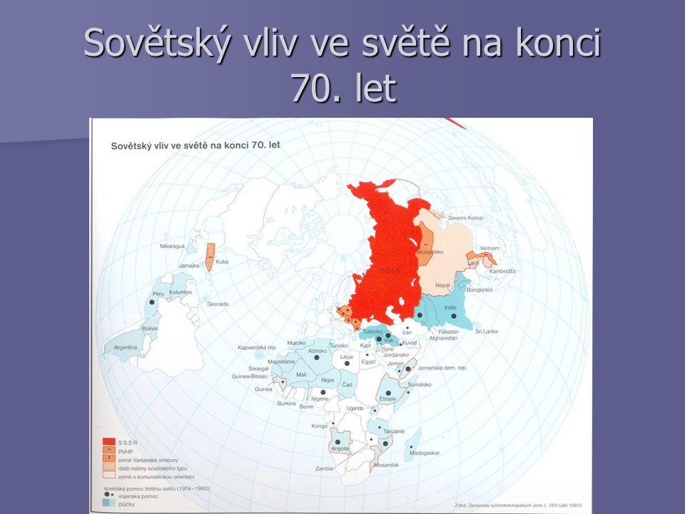 Sovětský vliv ve světě na konci 70. let
