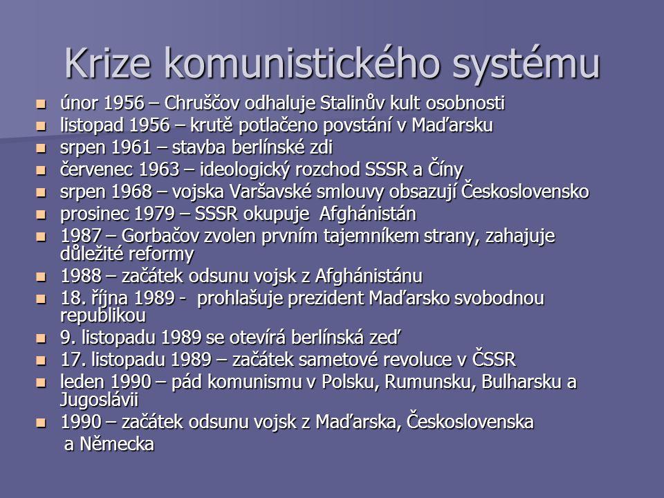 Krize komunistického systému
