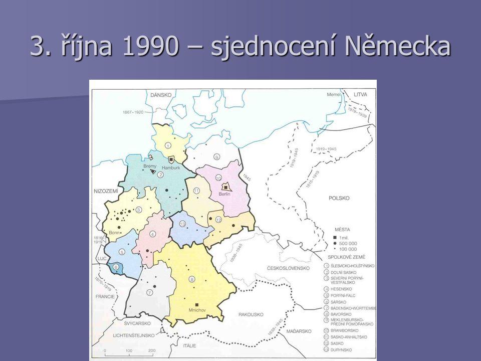 3. října 1990 – sjednocení Německa