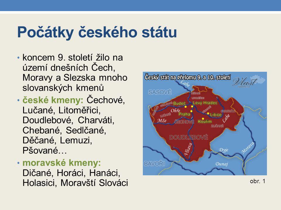 Počátky českého státu koncem 9. století žilo na území dnešních Čech, Moravy a Slezska mnoho slovanských kmenů.