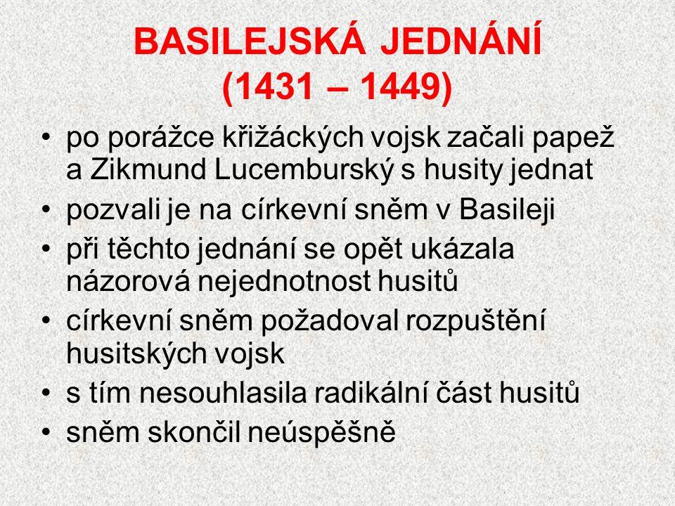 BASILEJSKÁ JEDNÁNÍ (1431 – 1449)