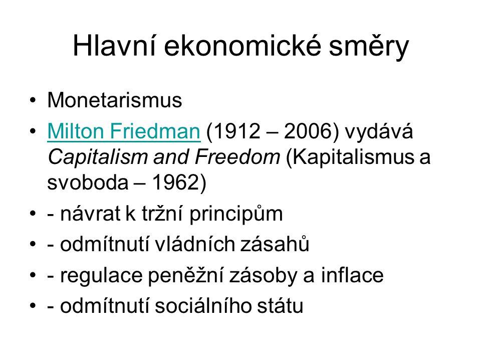 Hlavní ekonomické směry