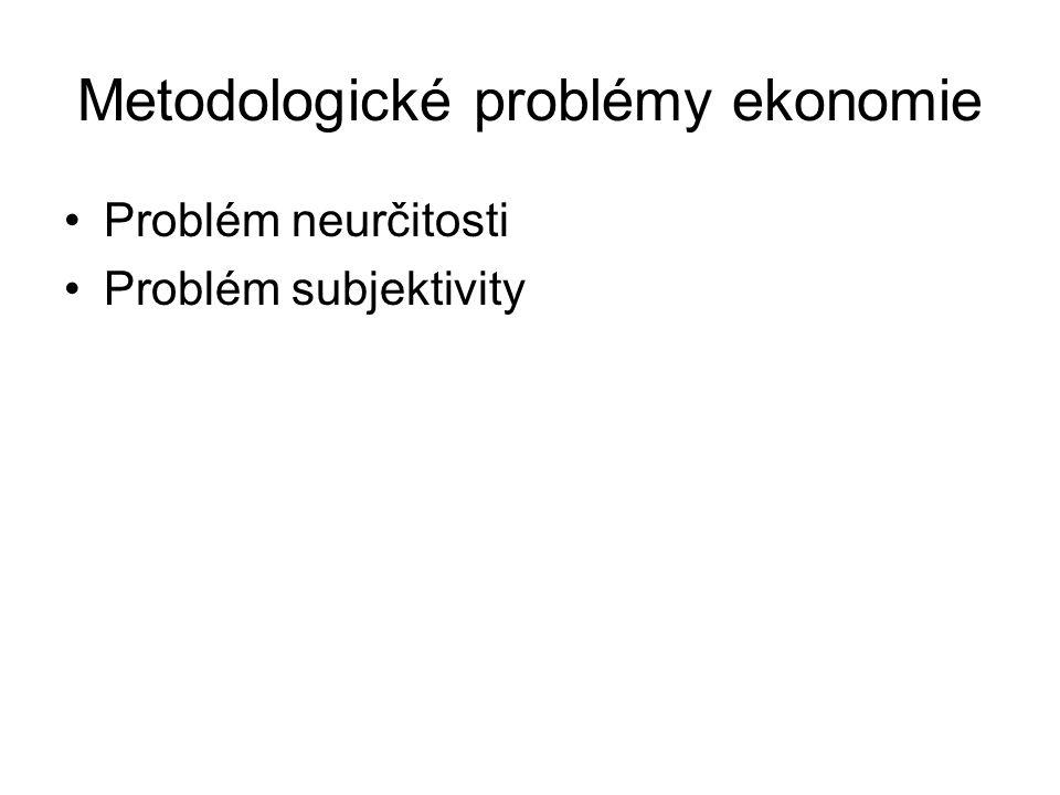 Metodologické problémy ekonomie