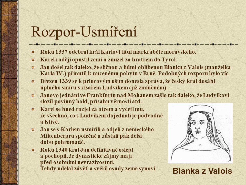 Rozpor-Usmíření Blanka z Valois