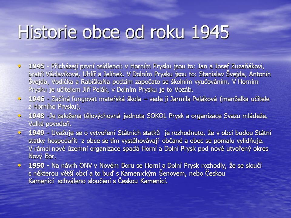 Historie obce od roku 1945