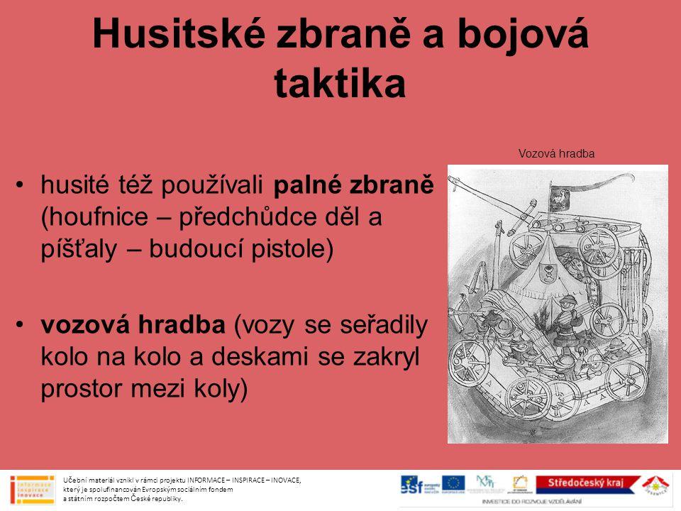 Husitské zbraně a bojová taktika