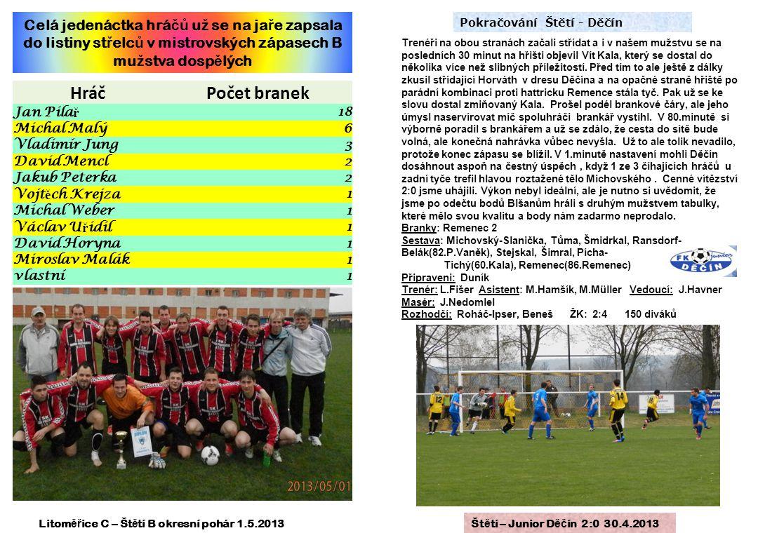 Litoměřice C – Štětí B okresní pohár 1.5.2013
