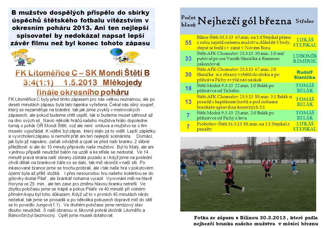 FK Litoměřice C – SK Mondi Štětí B finále okresního poháru