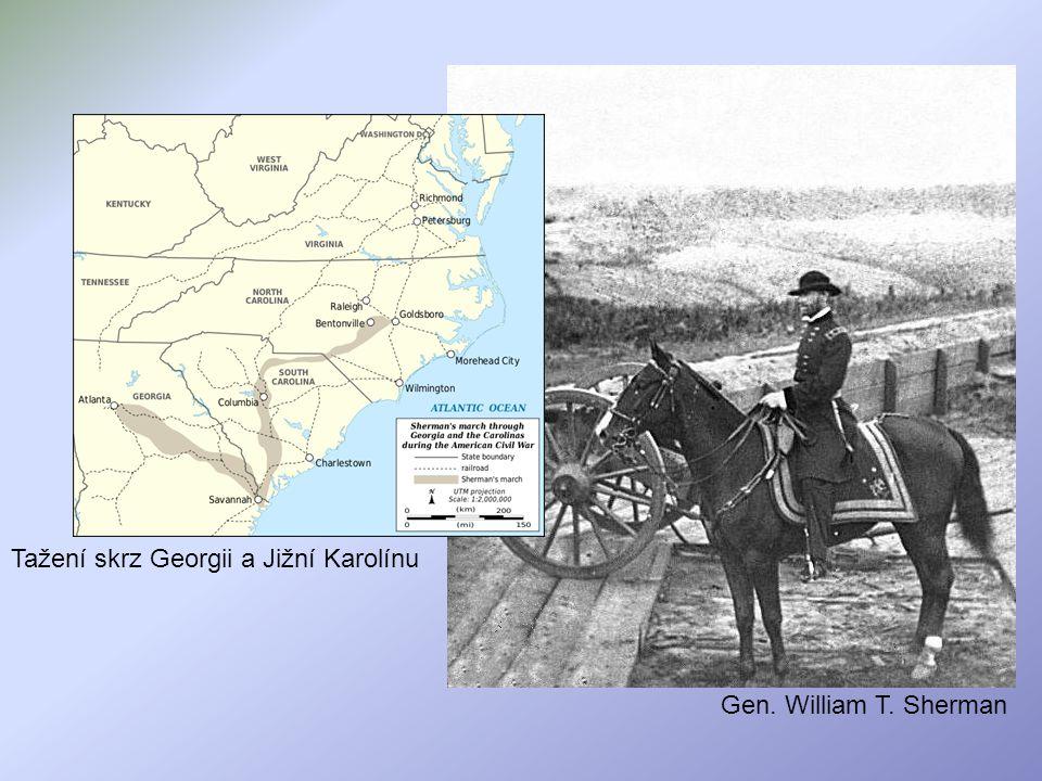 Tažení skrz Georgii a Jižní Karolínu