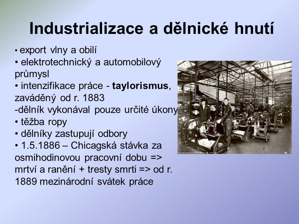 Industrializace a dělnické hnutí