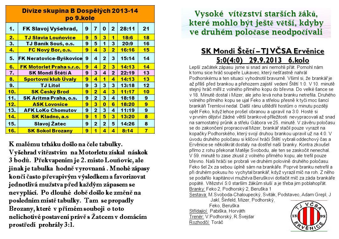 SK Mondi Štětí – TJ VČSA Ervěnice