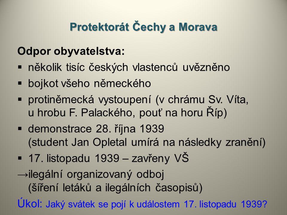 Protektorát Čechy a Morava