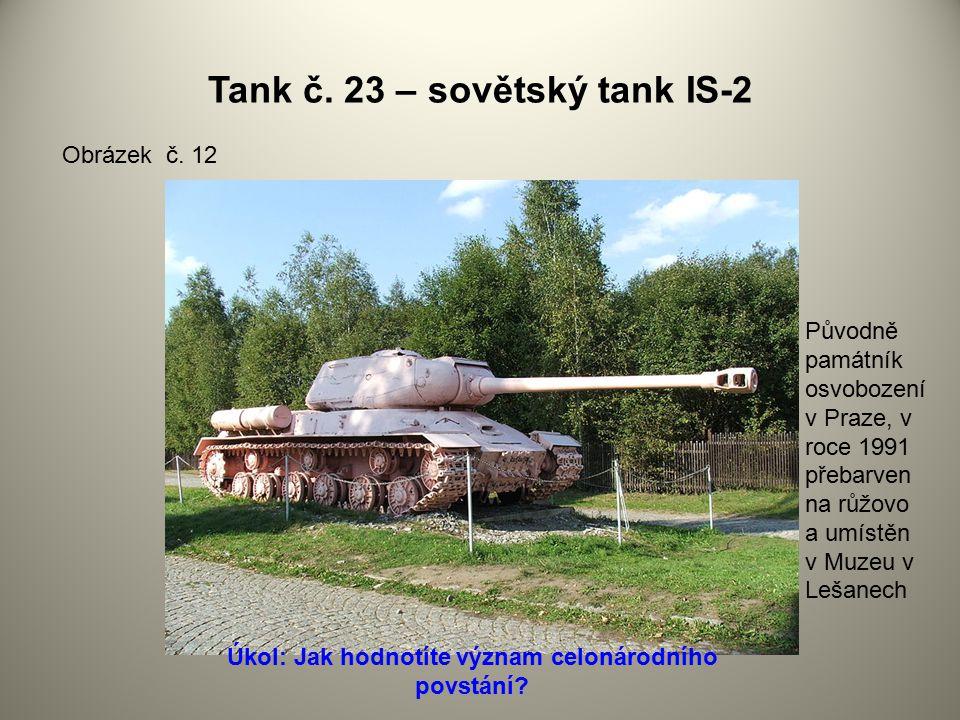Tank č. 23 – sovětský tank IS-2