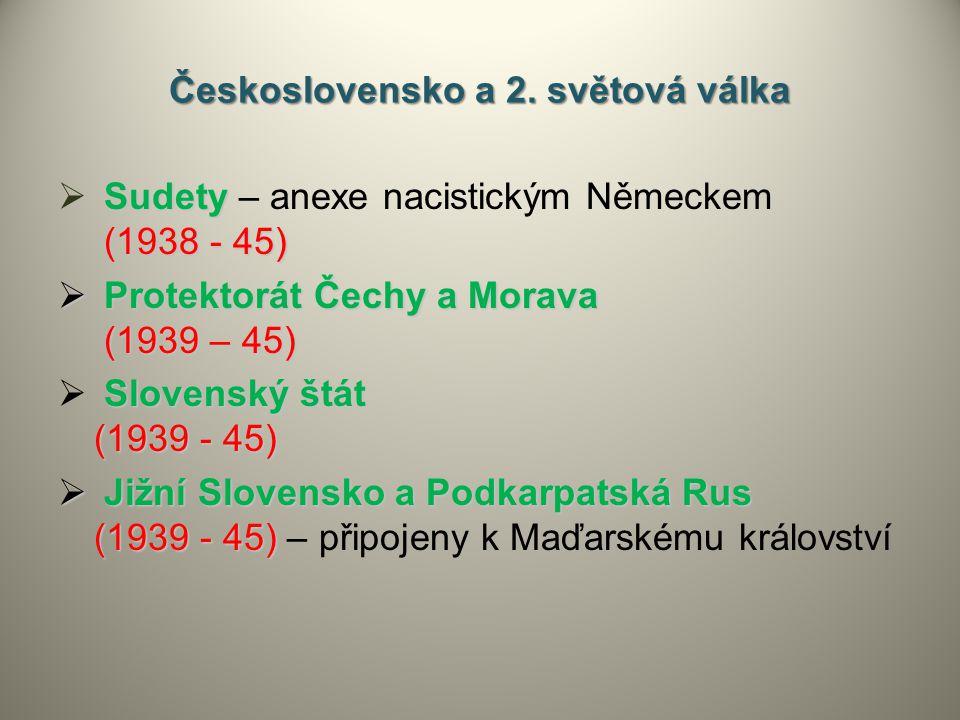 Československo a 2. světová válka