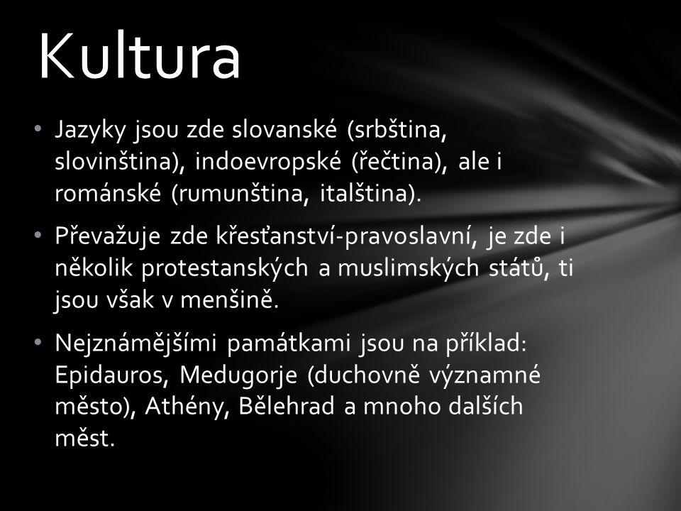 Kultura Jazyky jsou zde slovanské (srbština, slovinština), indoevropské (řečtina), ale i románské (rumunština, italština).