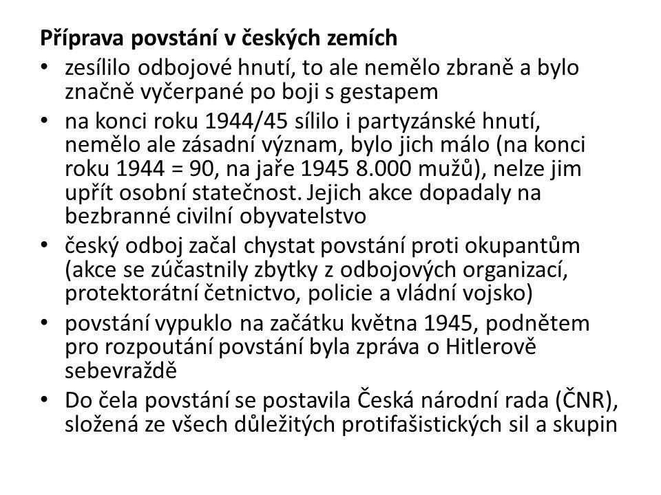 Příprava povstání v českých zemích