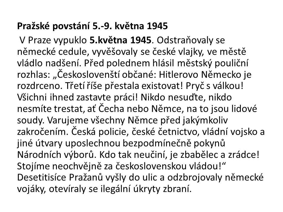 Pražské povstání 5.-9. května 1945