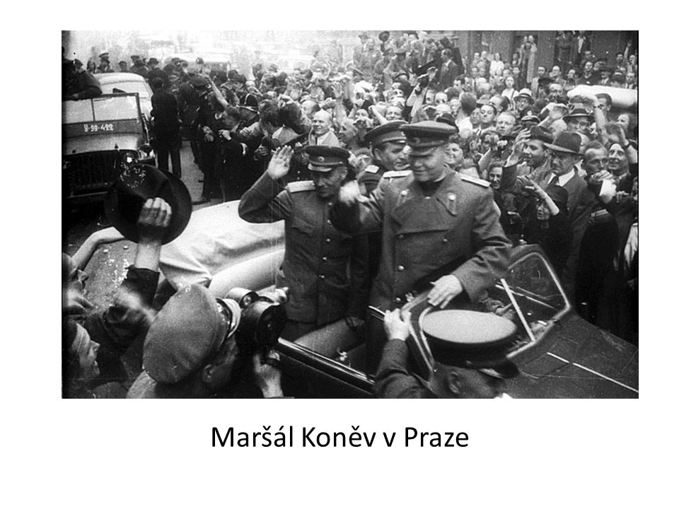 Maršál Koněv v Praze