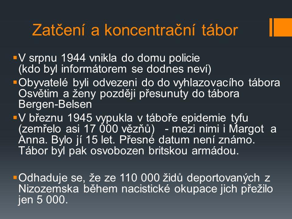 Zatčení a koncentrační tábor