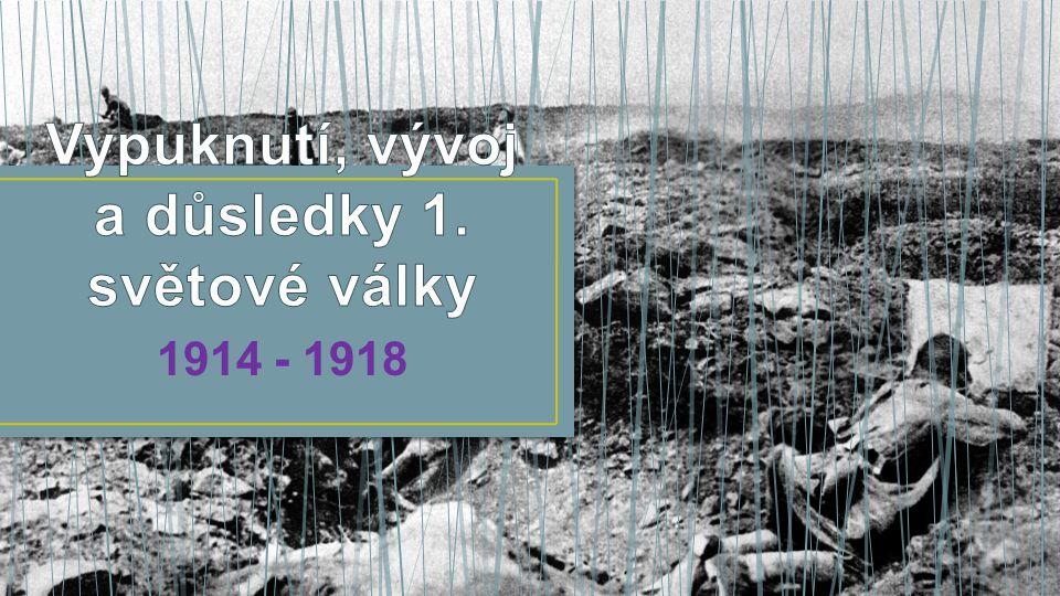 Vypuknutí, vývoj a důsledky 1. světové války