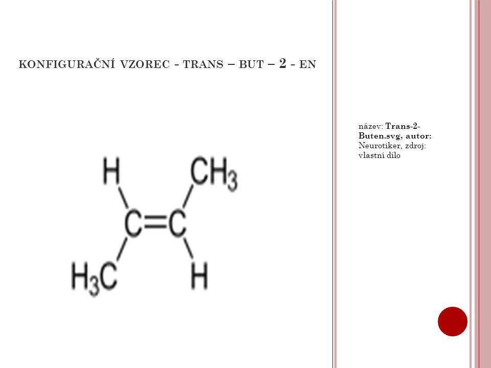 konfigurační vzorec - trans – but – 2 - en