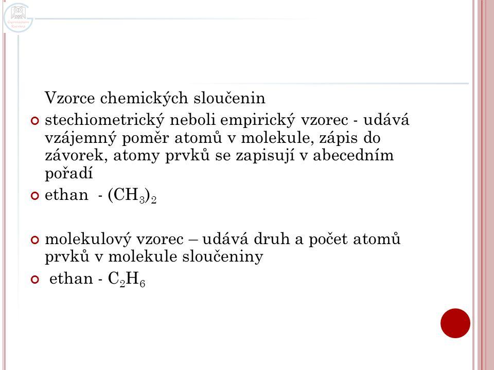 Vzorce chemických sloučenin