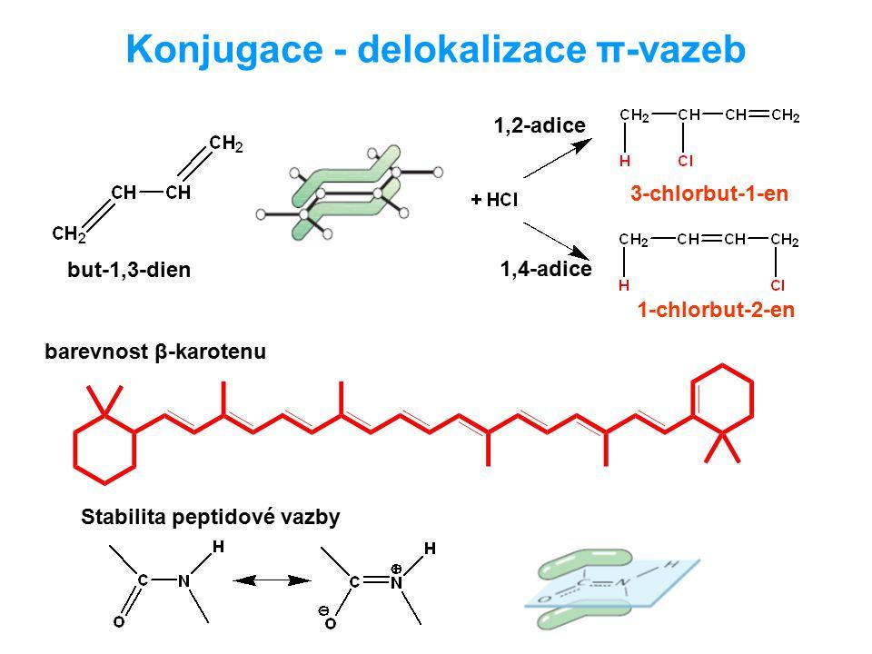 Konjugace - delokalizace π-vazeb