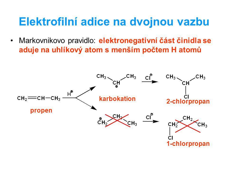 Elektrofilní adice na dvojnou vazbu