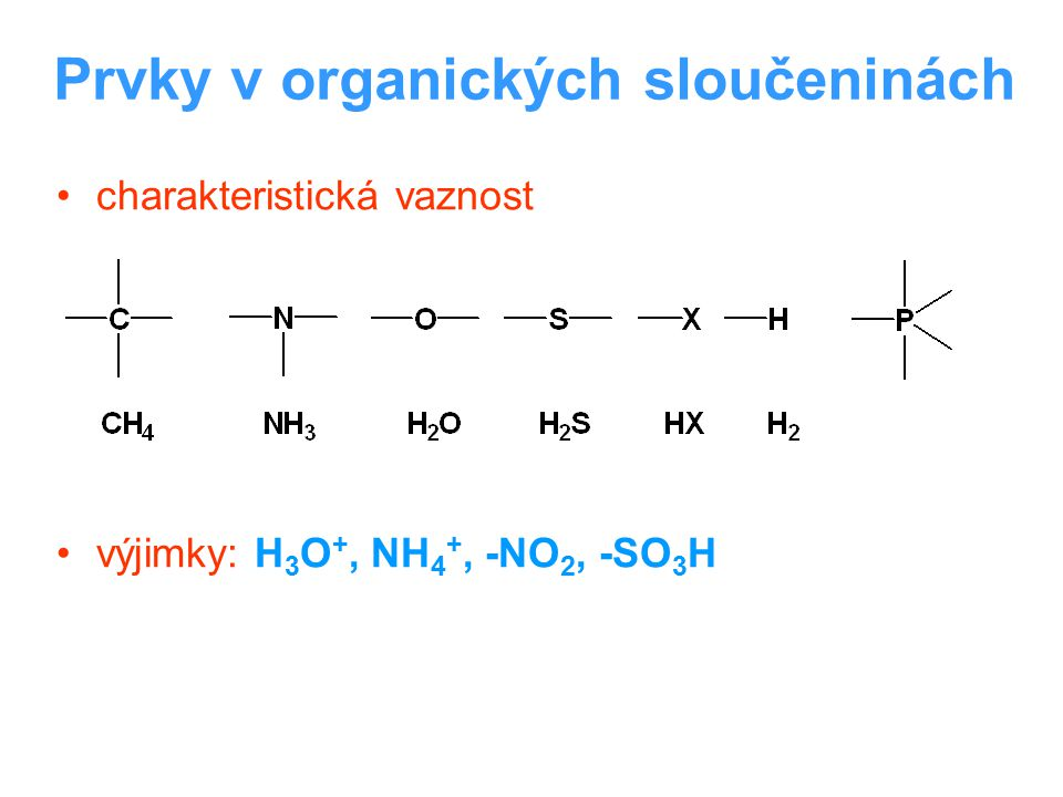 Prvky v organických sloučeninách