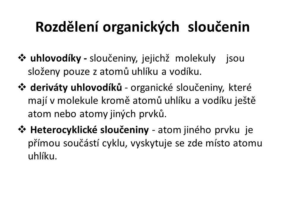 Rozdělení organických sloučenin