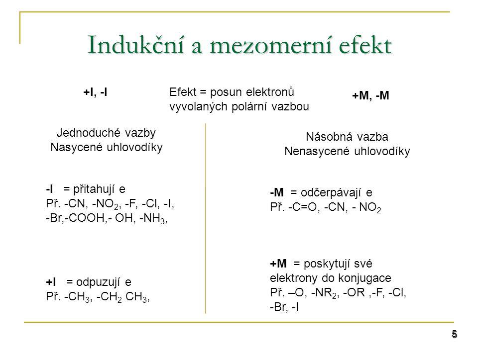 Indukční a mezomerní efekt
