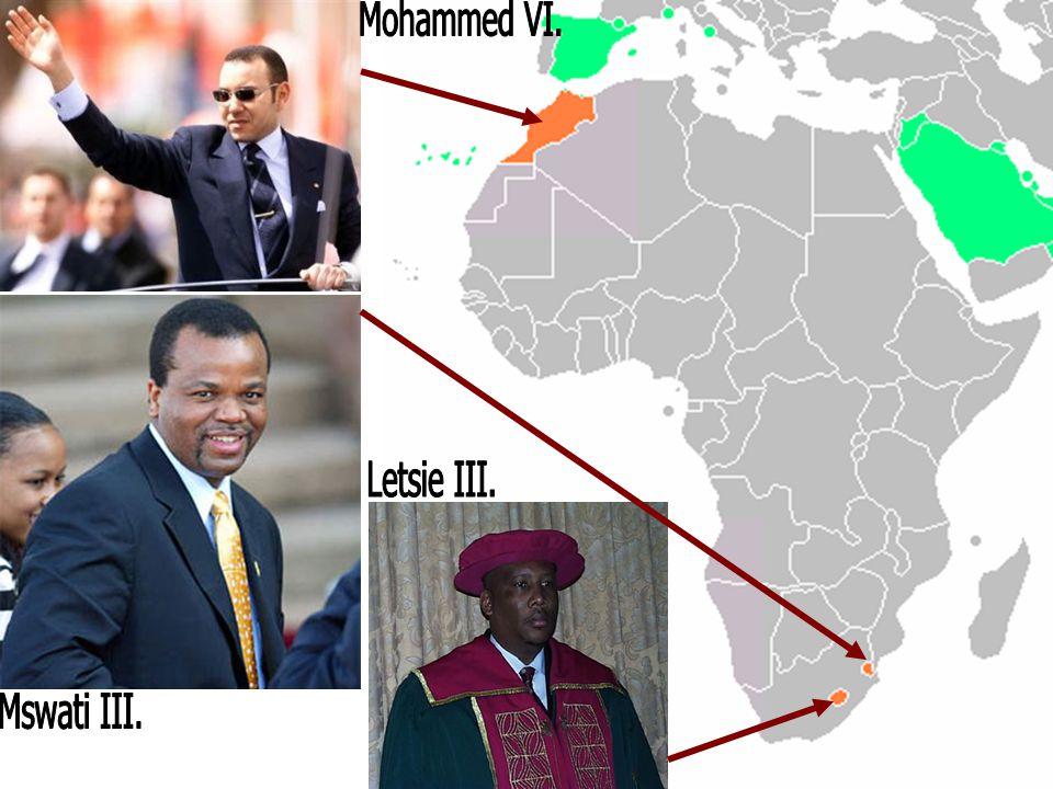 Mohammed VI. Letsie III. Mswati III.