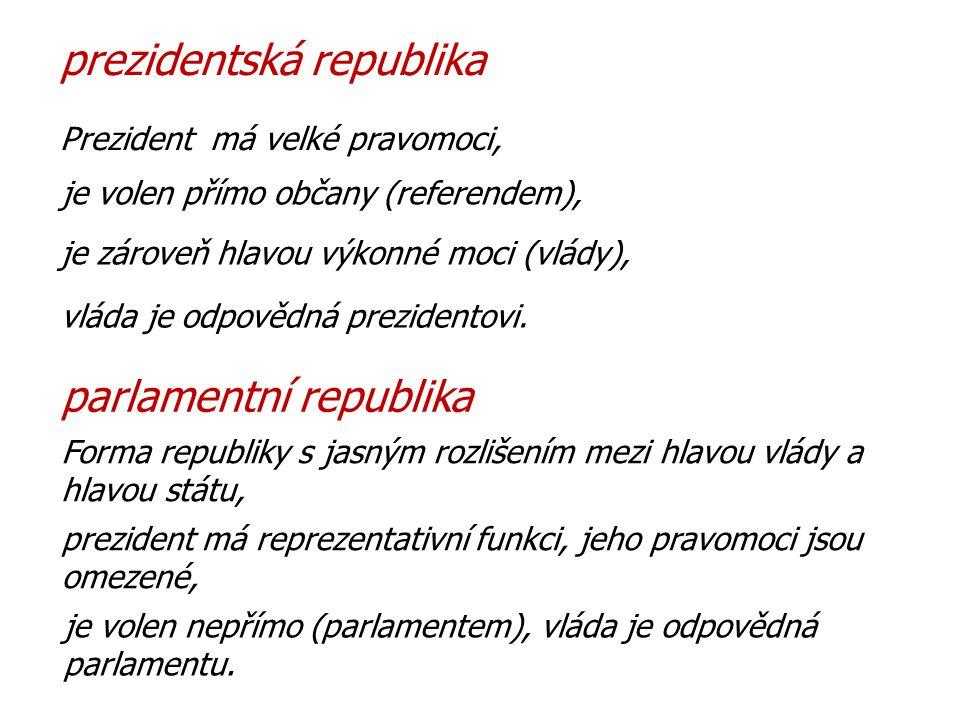 prezidentská republika