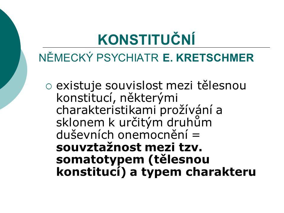 KONSTITUČNÍ NĚMECKÝ PSYCHIATR E. KRETSCHMER