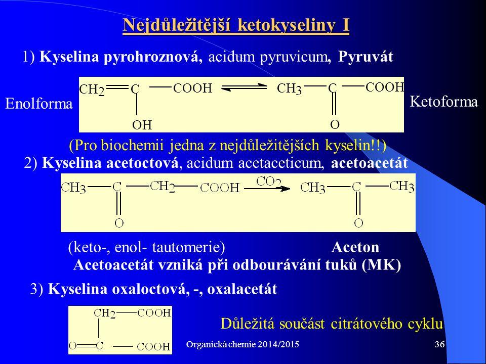 Nejdůležitější ketokyseliny I