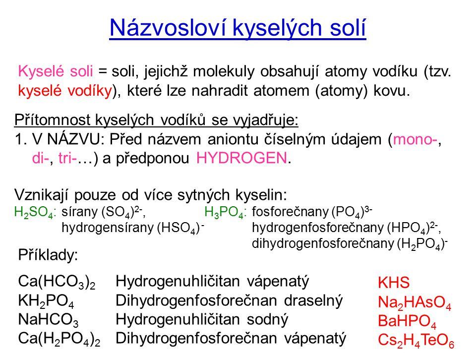 Názvosloví kyselých solí