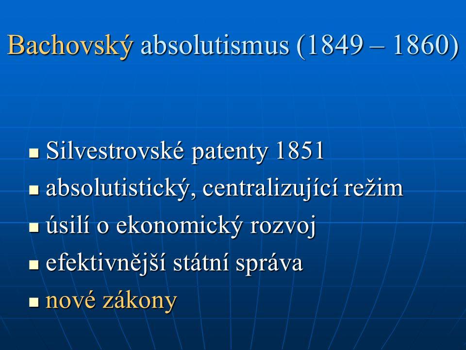 Bachovský absolutismus (1849 – 1860)