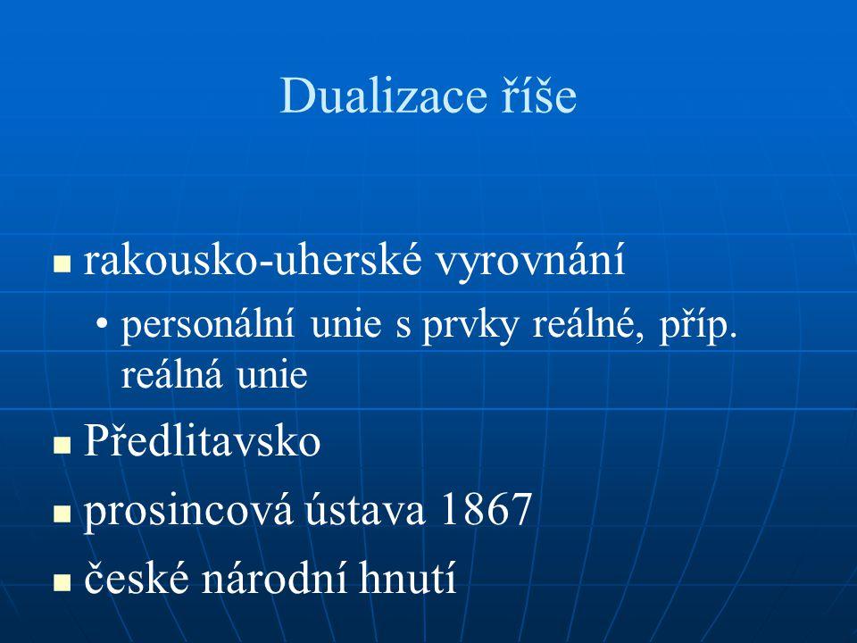 Dualizace říše rakousko-uherské vyrovnání Předlitavsko