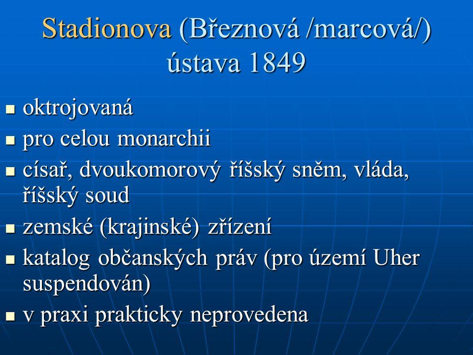 Stadionova (Březnová /marcová/) ústava 1849