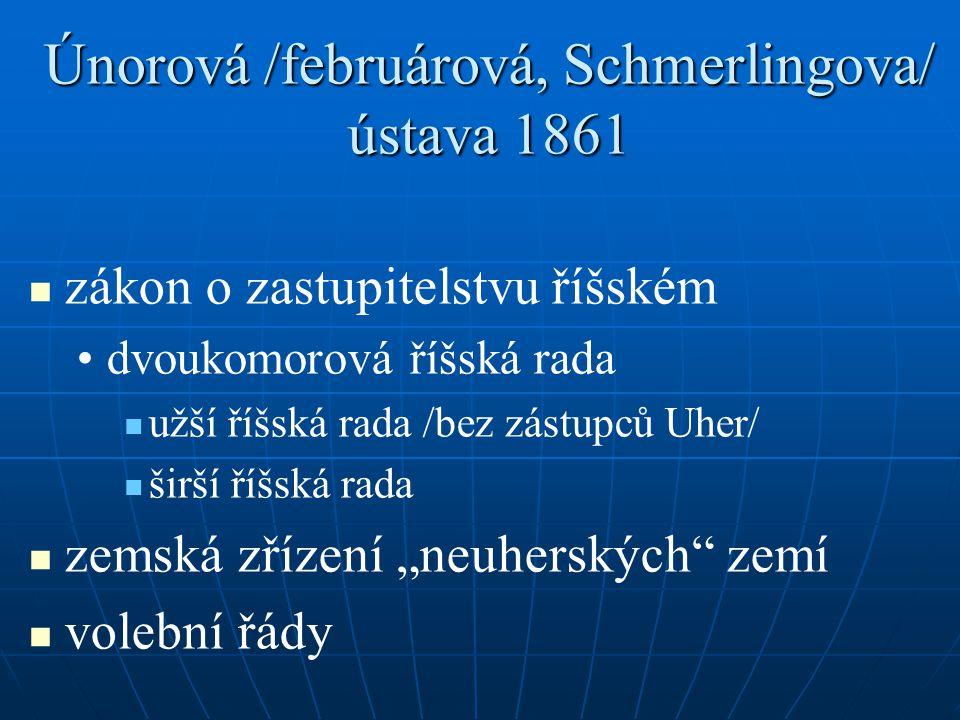 Únorová /februárová, Schmerlingova/ ústava 1861