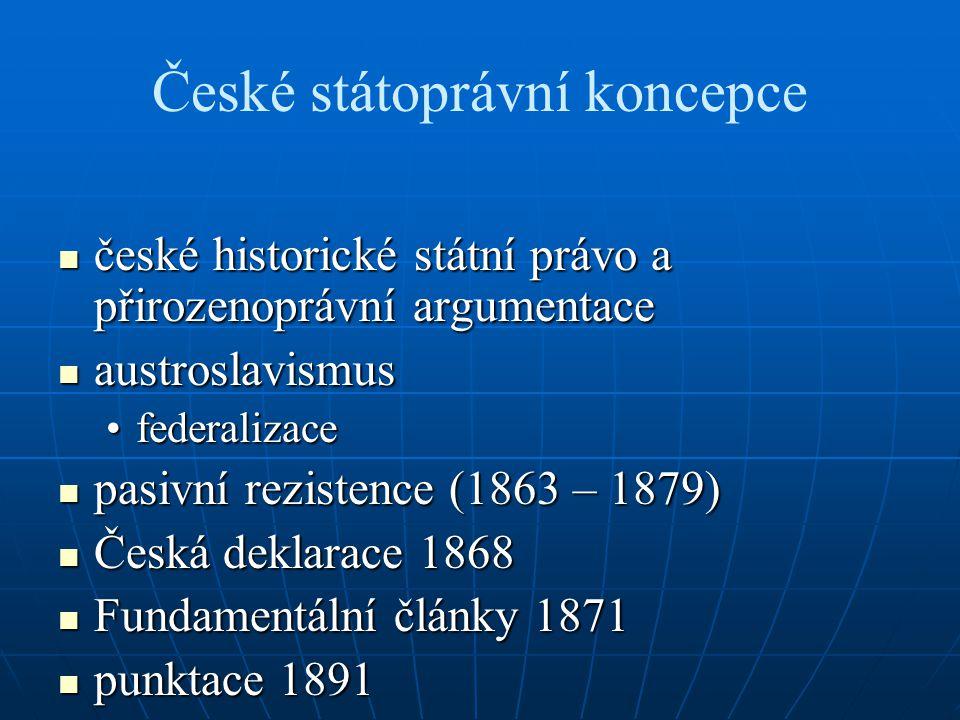 České státoprávní koncepce