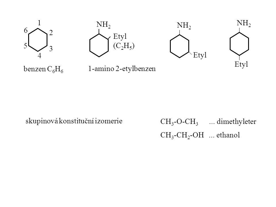 1 2. 3. 6. 4. 5. benzen C6H6. NH2. Etyl (C2H5) 1-amino 2-etylbenzen. NH2. Etyl. NH2. Etyl.